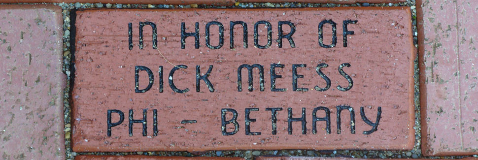Dick Meess Brick at Centennial Gardens