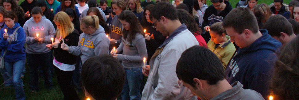 Greek Hill Virginia Tech Vigil