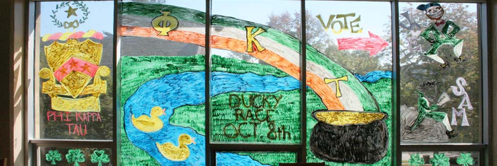 Greek Week Window